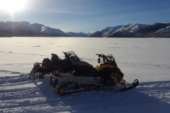 Snowmobiling on Fish Lake - February 2019