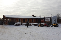 Lunch stop at Braeburn Lodge on the annual Dawson Overland Trail Ride - March 2019