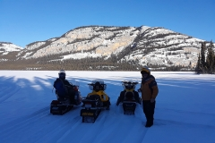 Coghlan Lake scenic route on the annual Dawson Overland Trail Ride - March 2019