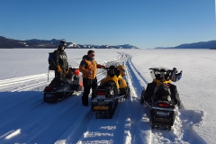 Lake Laberge scenic route on the annual Dawson Overland Trail Ride - March 2019