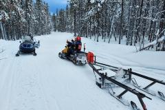 Grooming the McLean Lake Trail - January 2021