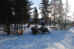 Break time at Dog Grave Lake on the Annual K.S.A. Dawson Overland Trail Group Ride - March 2017