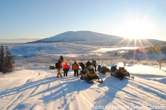Yukon Wildlife Viewing's Snowmobile for Caribou ride - January 2018