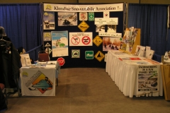 Klondike Snowmobile Association booth at the Winter Living Show in Whitehorse - October 2005