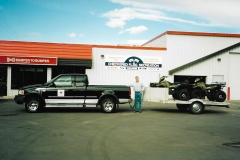 Picking up the K.S.A.'s new Trail Steward ATVs from our local Polaris dealer - 1998