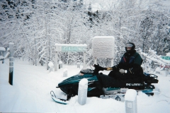 A frosty morning on the Whitehorse multi-use trails - Winter 2003