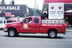 K.S..A. and the Trans Canada Trail showing off at the Canada Day Parade in Whitehorse - July 2001