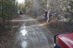 Klondike Snowmobile Association Volunteers doing some maintenance on the multi-use trails near Whitehorse - October 2018