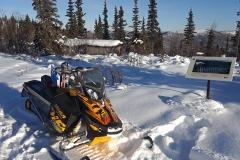 Riding the Heritage Ridge Trail near Dawson City - February 2019