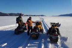 Lake Laberge scenic route on the annual Dawson Overland Trail Ride - March 2019