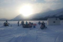 Ice fishing at Alligator Lake - February 2020