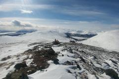 Snowmobilers enjoying the view - April 2020