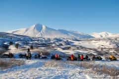 Yukon Wildlife Viewing's Snowmobile for Caribou ride - January 2018