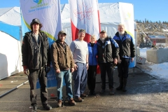 K.S.A. Board and Trans Canada Trail Reps celebrating 100% connection of the Yukon portion of the Trans Canada Trail - February 2016