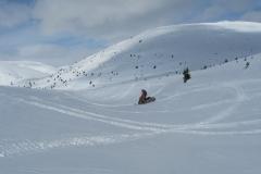 Snowmobiling near Tally Ho mountain - April 2020