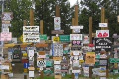 K.S.A. Signs at the Watson Lake Sign Post Forest