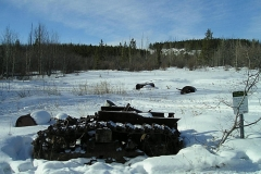 Leftovers from long ago on the Dawson Overland Trail - January 2012