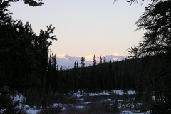 View from the outhouse at the K.S.A. warm-up cabin on  the Dawson Overland Trail - March 2005