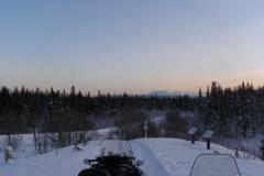 Copper Haul Trail head at dusk - December 2006