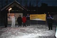 Olympic Torch visits the Trans Canada Trail pavilion in Whitehorse  on it's way to Vancouver 2010 games-  November 2009