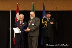 Harris Cox receiving another volunteering award - January 2017